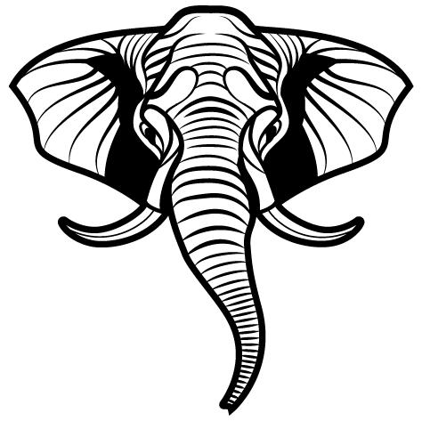 Sticker Éléphant - 1