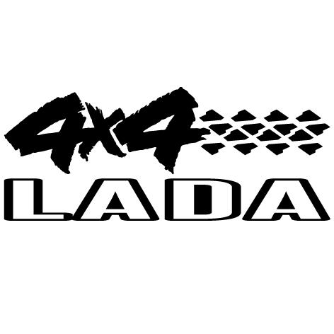 Sticker 4x4 Lada