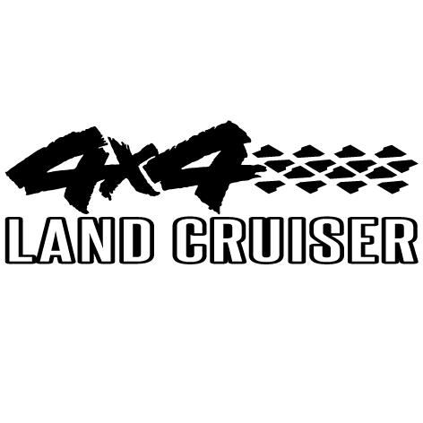 Sticker 4x4 Land cruiser