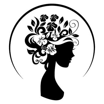 Sticker vitrine coiffeuse