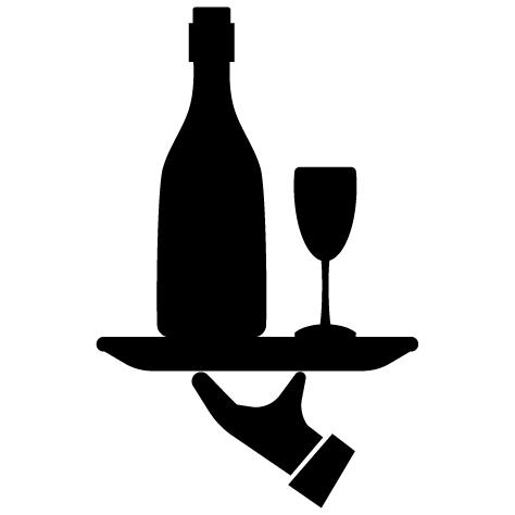 Sticker plateau de champagne