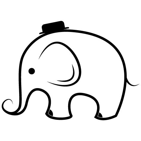 Sticker Éléphant : 01