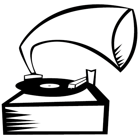 Achat Sticker Gramophone