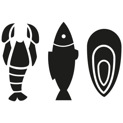 Sticker Poissonnerie crustacé : 05