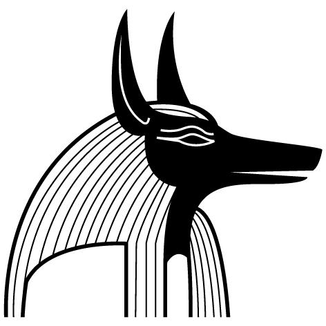 Sticker Mural Anubis