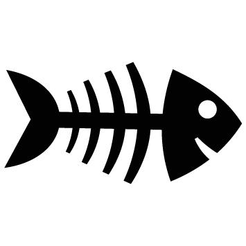 Sticker arête poisson
