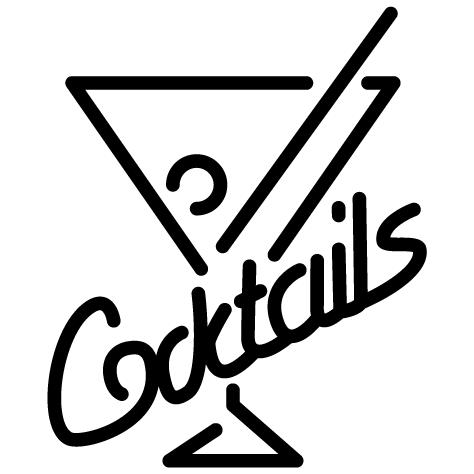 Achat Sticker bar cocktail : 008