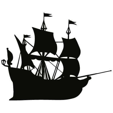 Sticker bateau pirates : CDG005