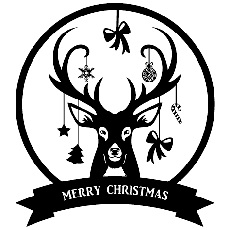 Sticker cerf de Noël : 15