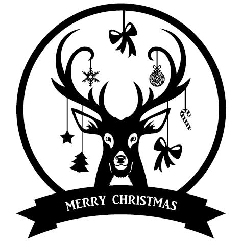 Sticker cerf de Noël : 15