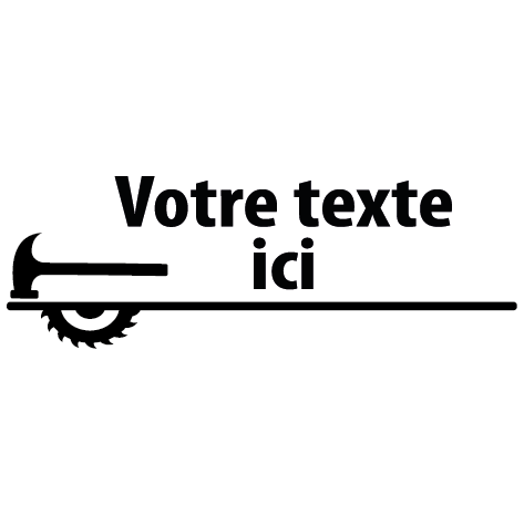 Sticker scie marteau