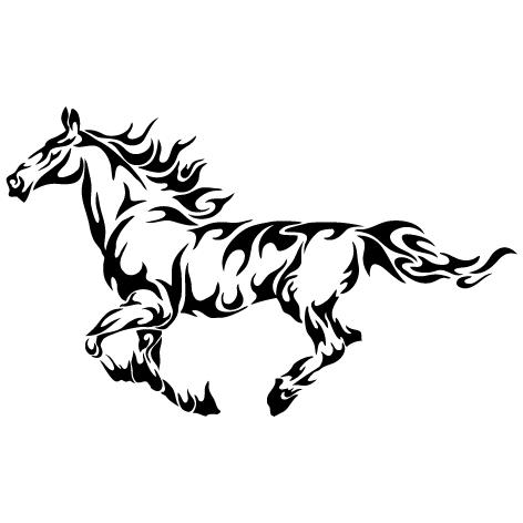 Sticker cheval tribal