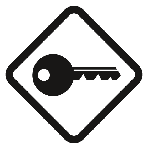 Sticker clef de serrure : STC8