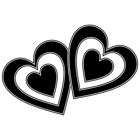 Sticker cœurs : DECOMP06