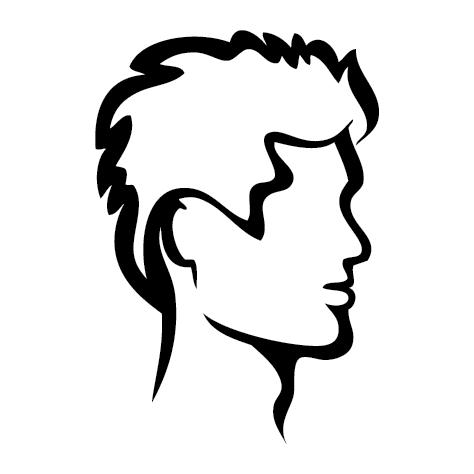 Sticker coiffure homme : SCH10