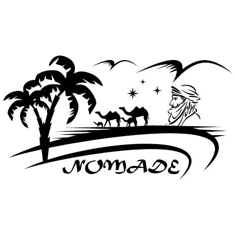 Sticker désert nomade : 03