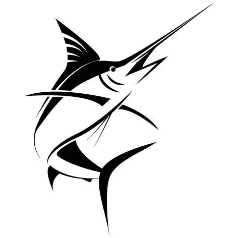 Sticker poisson espadon