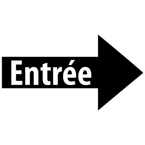 Sticker flèche entrée droite : SF16