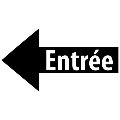 Sticker flèche entrée gauche : SF16