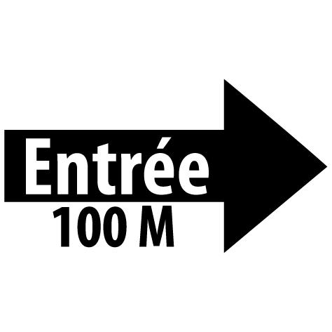 Sticker flèche entrée droite 100M : SF16
