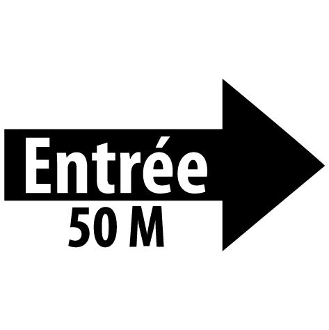 Sticker flèche entrée droite 50M : SF16