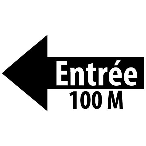 Sticker flèche entrée gauche 100M : SF16
