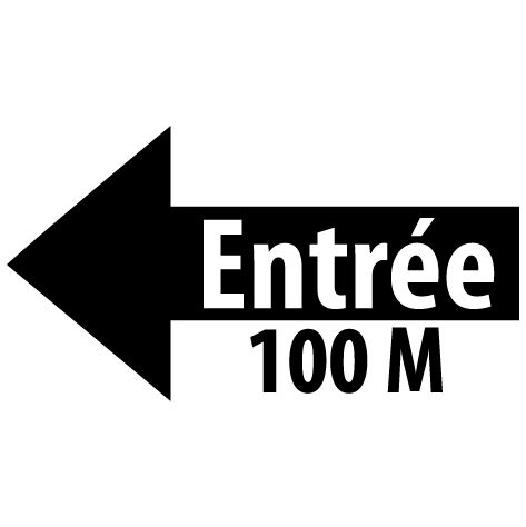 Achat Sticker flèche entrée gauche 100M : SF16
