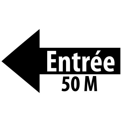 Sticker flèche entrée gauche 50M : SF16