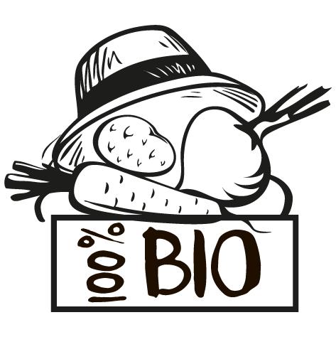 Sticker fruits et légumes bio