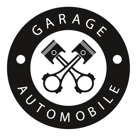 Sticker garage pistons de voiture