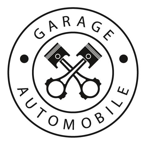 Sticker garage automobile rond