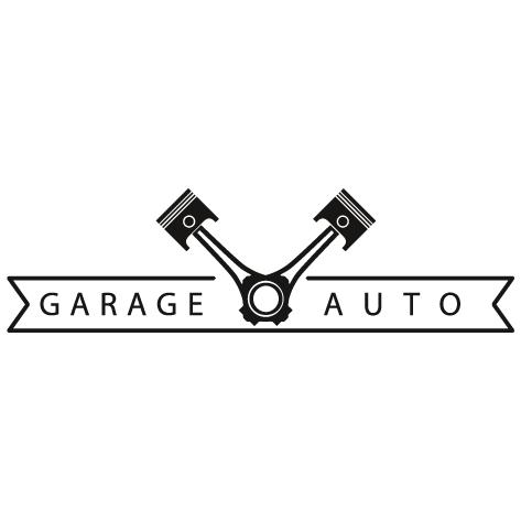 Sticker garage automobile piston