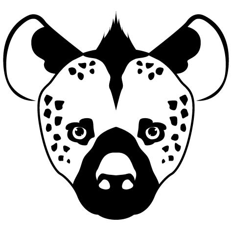Sticker Hyène
