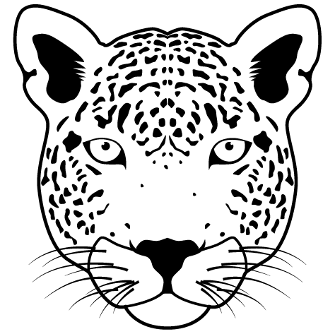 Sticker Leopard