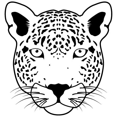 Sticker léopard