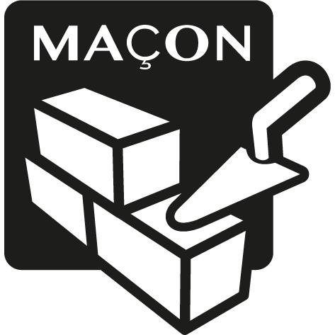Achat Sticker maçon : STM11