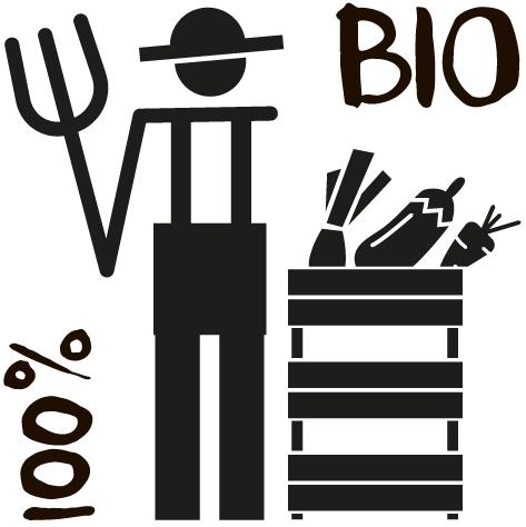 Sticker marchand bio