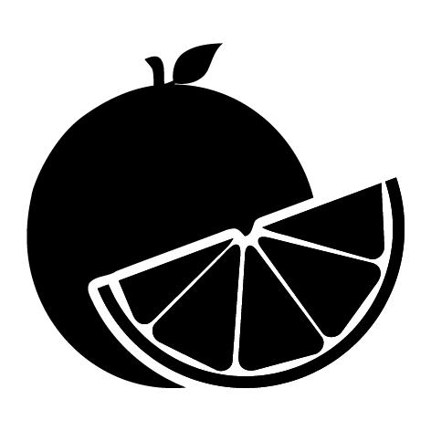 Sticker orange