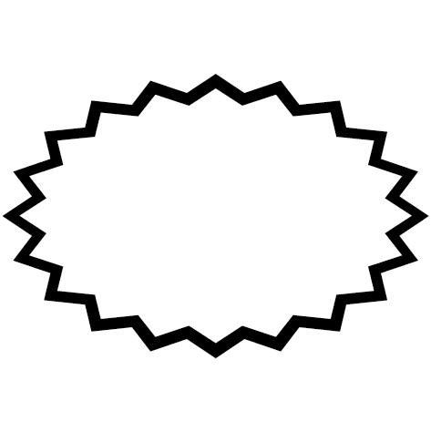 Sticker ovale dents de requin