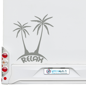 Sticker palmier relax