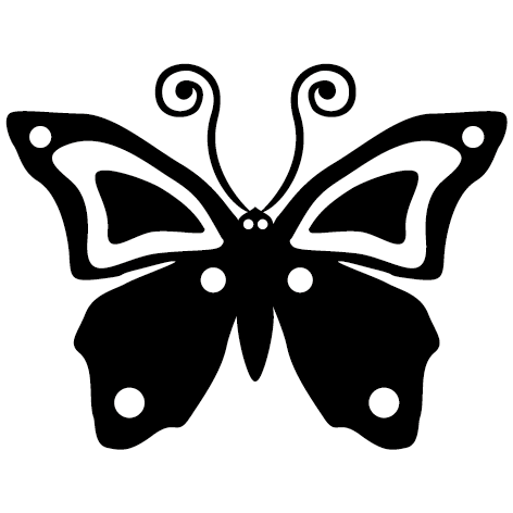 Sticker papillon aurore