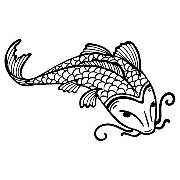 Sticker poisson chinois