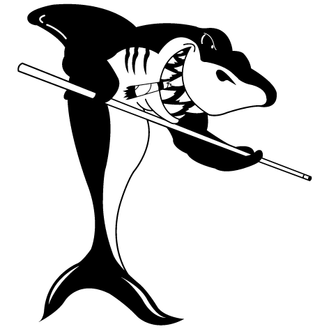 Sticker requin billard