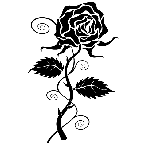 Achat Sticker rose  : SFL10