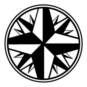 Achat Sticker rose des vents : SCC17