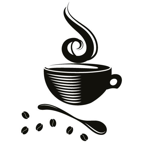 Achat Sticker tasse à café : 006
