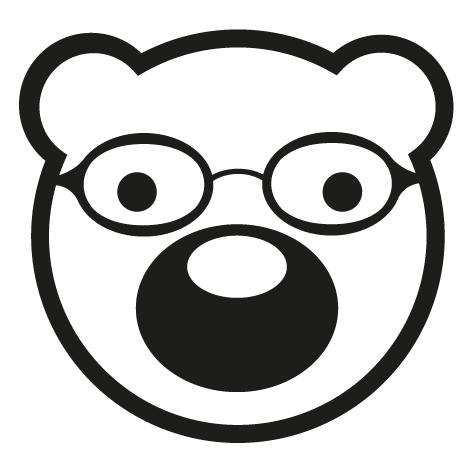 Sticker tête d'ourson