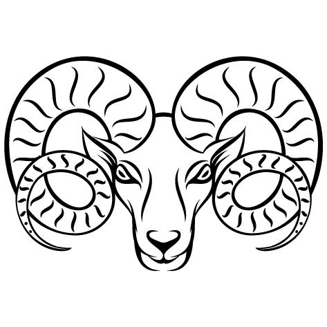 Sticker tête de Bélier