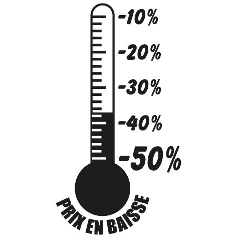 Achat Sticker thermomètre