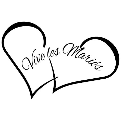 Sticker Vive les mariés: DECOMP10